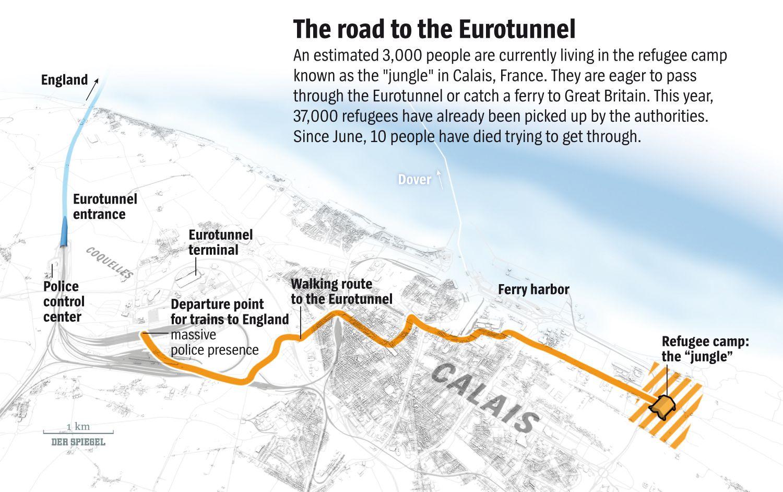 ENGLISH VERSION GRAFIK DER SPIEGEL 33/2015 SEITE 84 - The road to the Eurotunnel