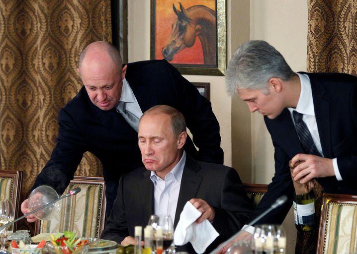 """Putin mit seinem """"Chefkoch"""" Prigoschin"""