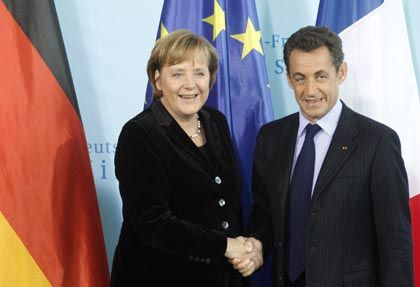 Political partners Merkel and Sarkozy: an alliance of the willing