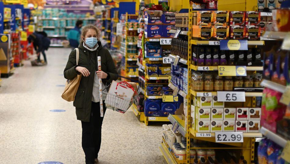 Tesco-Supermarkt in London: Sorge um die Versorgung mit Frischware