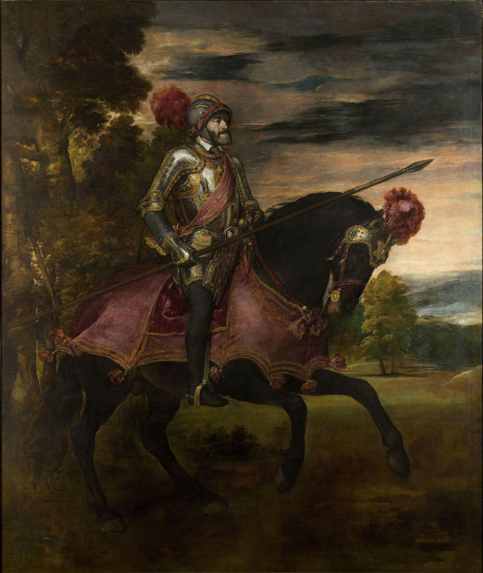 Equestrian Portrait of Charles V of Spain (1500-1558), 1548. Artist: Titian (1488-1576)