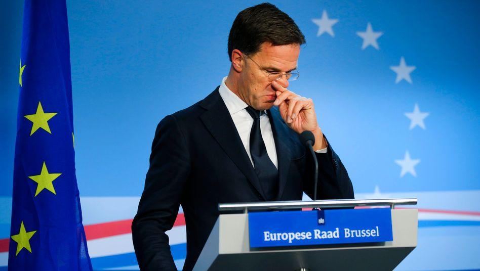 Wie viel Solidarität will er sich leisten? Mark Rutte in Brüssel