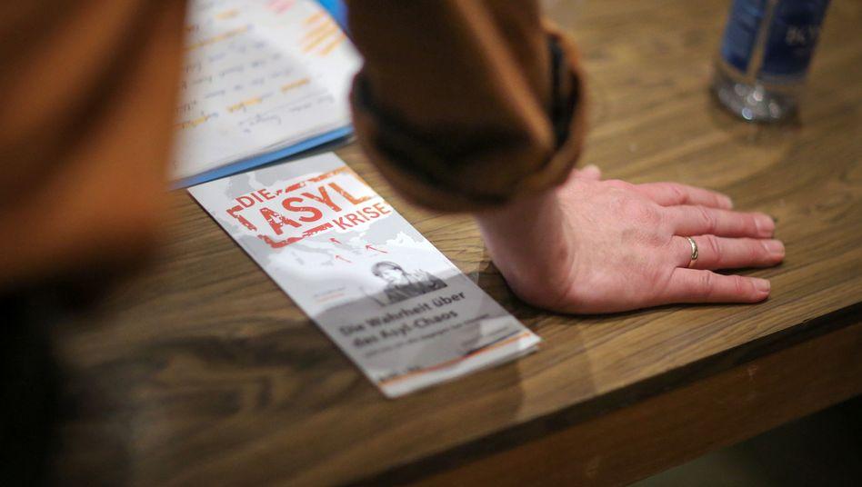 Wahlkampfveranstaltung der AfD in Rheinland-Pfalz: Mit der Flüchtlingskrise punkten