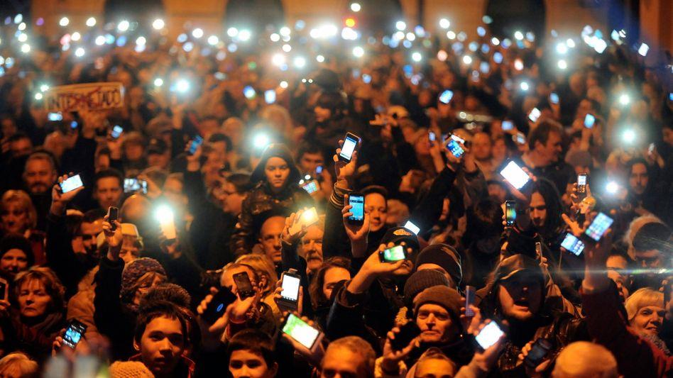 Demonstration in Budapest: Widerstand gegen Internet-Steuer