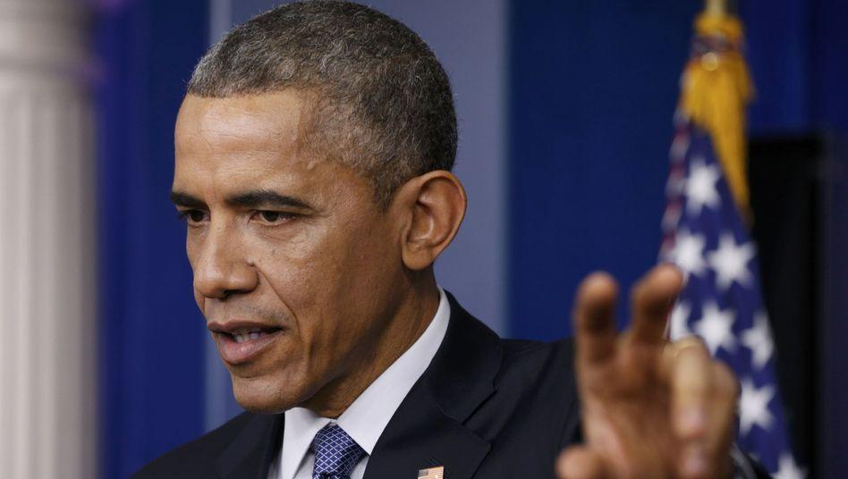 """US-Präsident Obama: """"Wir werden darauf reagieren"""""""