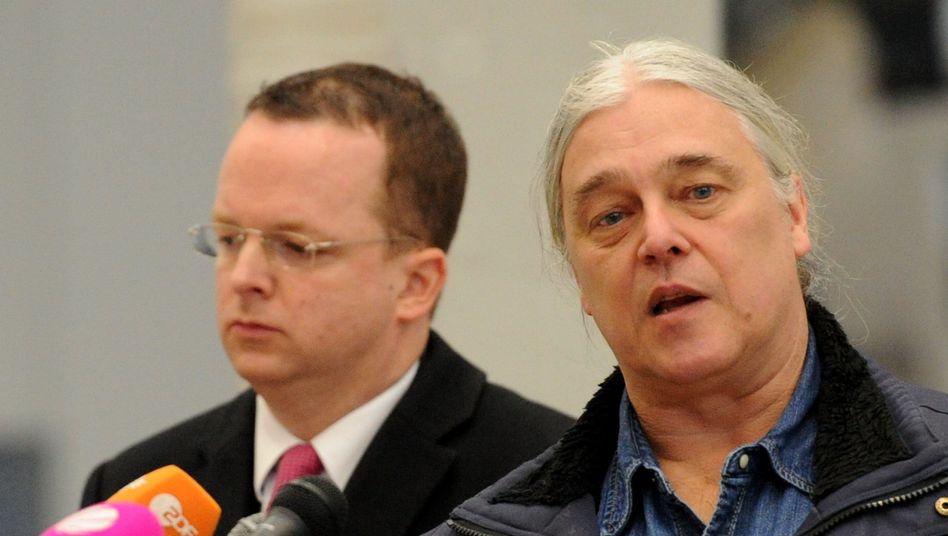 Prokon-Geschäftsführer freigestellt: Ex-Chef Rodbertus (r.) mit Insolvenzverwalter Penzlin