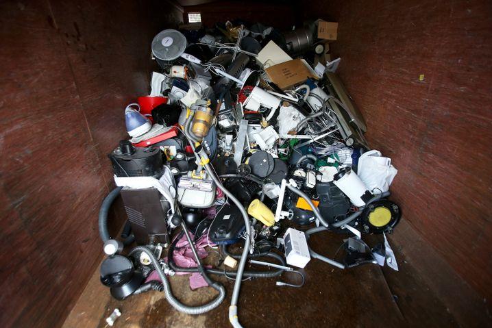 Elektroschrott auf einem Hamburger Recyclinghof