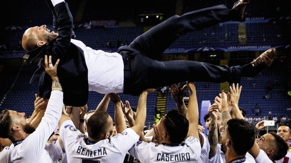 Siegertrainer Zidane in Mailand 2016: Anfänger mit Stargehalt