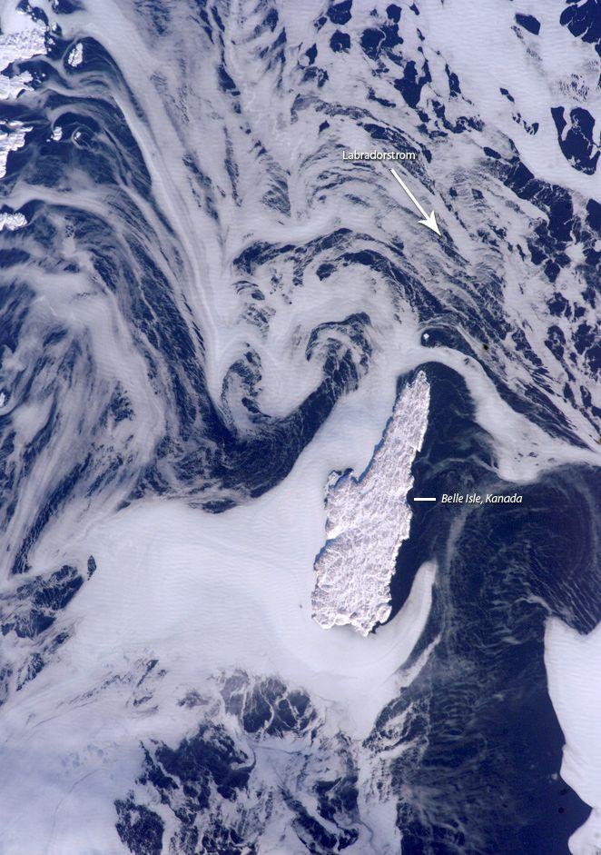 Satellitenbild Labradorstrom / Kanda