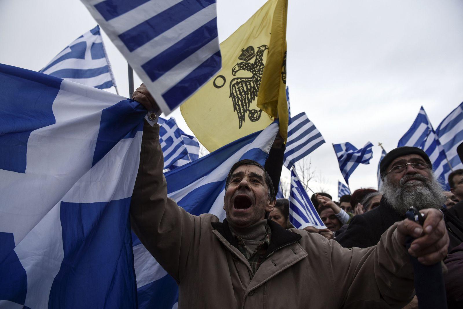 Griechenland / Mazedonien / Proteste