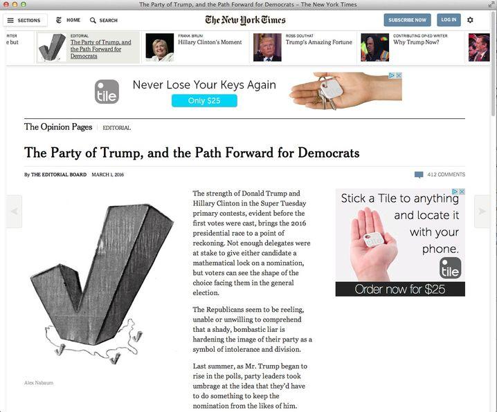 """Kommentar der """"New York Times"""" zum Super Tuesday"""