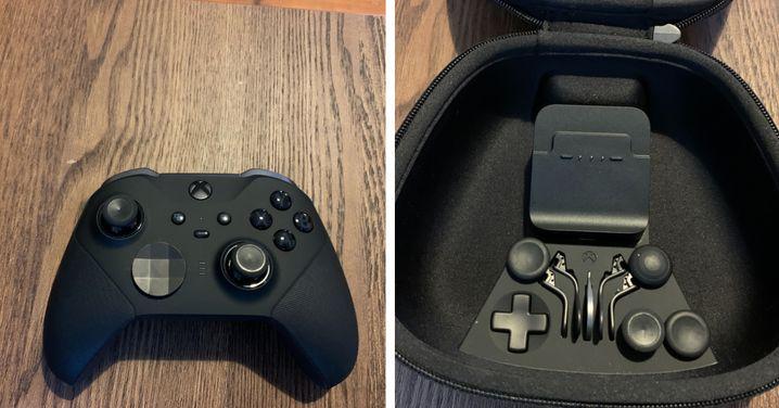 Der Xbox Elite Series 2 kommt mit allerlei austauschbaren Komponenten - so viel bietet kein anderer der getesteten Pro-Controller