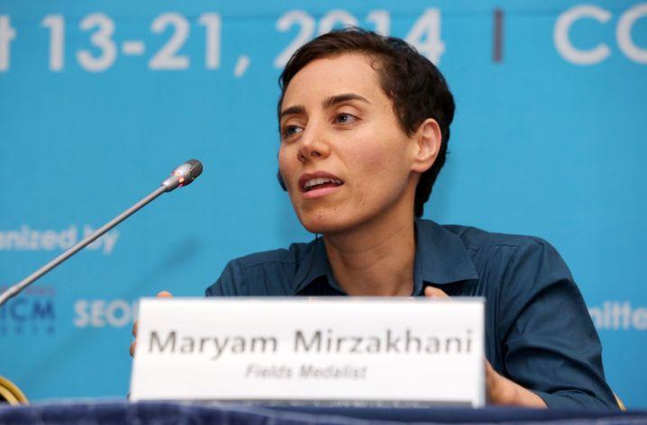 Maryam Mirzakhani beim internationalen Mathekongress 2014 in Seoul