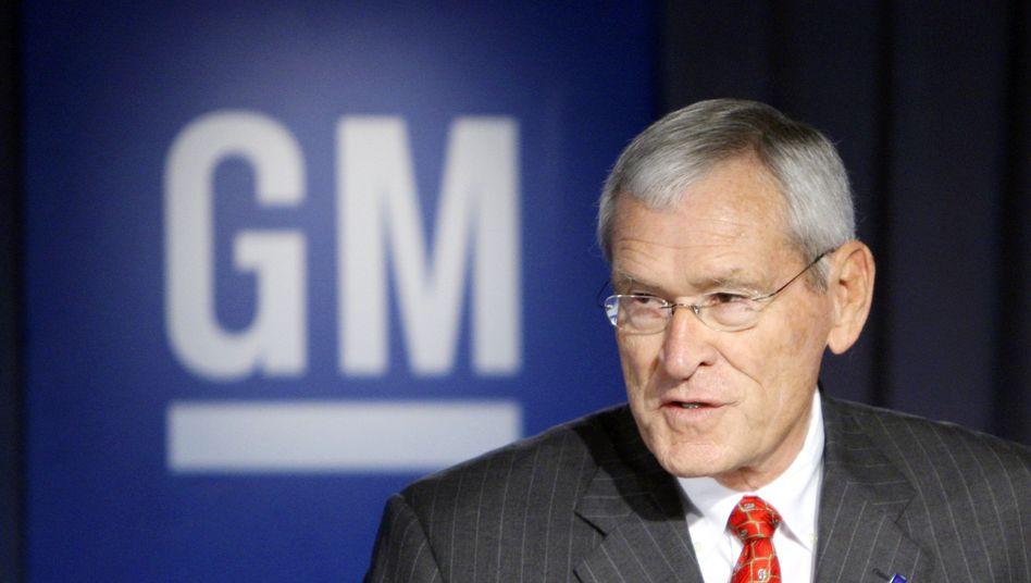 GM-Verwaltungsratschef Edward Whitacre: Dann bezahlen wir das eben selbst