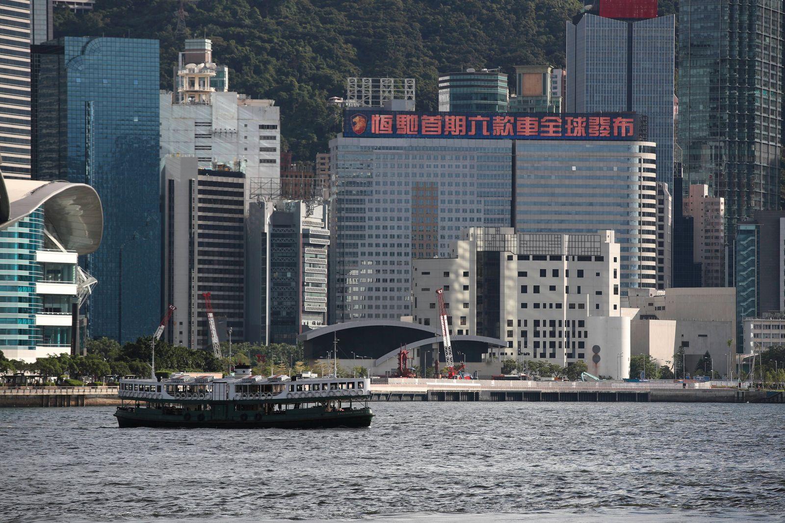 September 1, 2021, Hong Kong, China: View of China Evergrande Centre in Wan Chai. 01SEP21 SCMP / Hong Kong China - ZUMAs