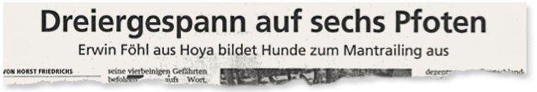 Aus der Nienburger »Kreiszeitung«