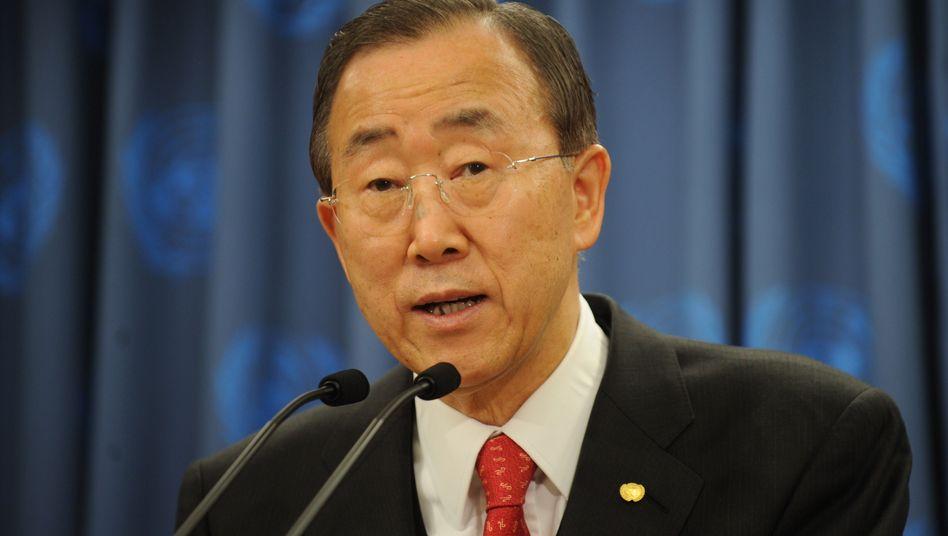 Uno-Generalsekretär Ban Ki Moon: Auskünfte über seine Absichten gefordert