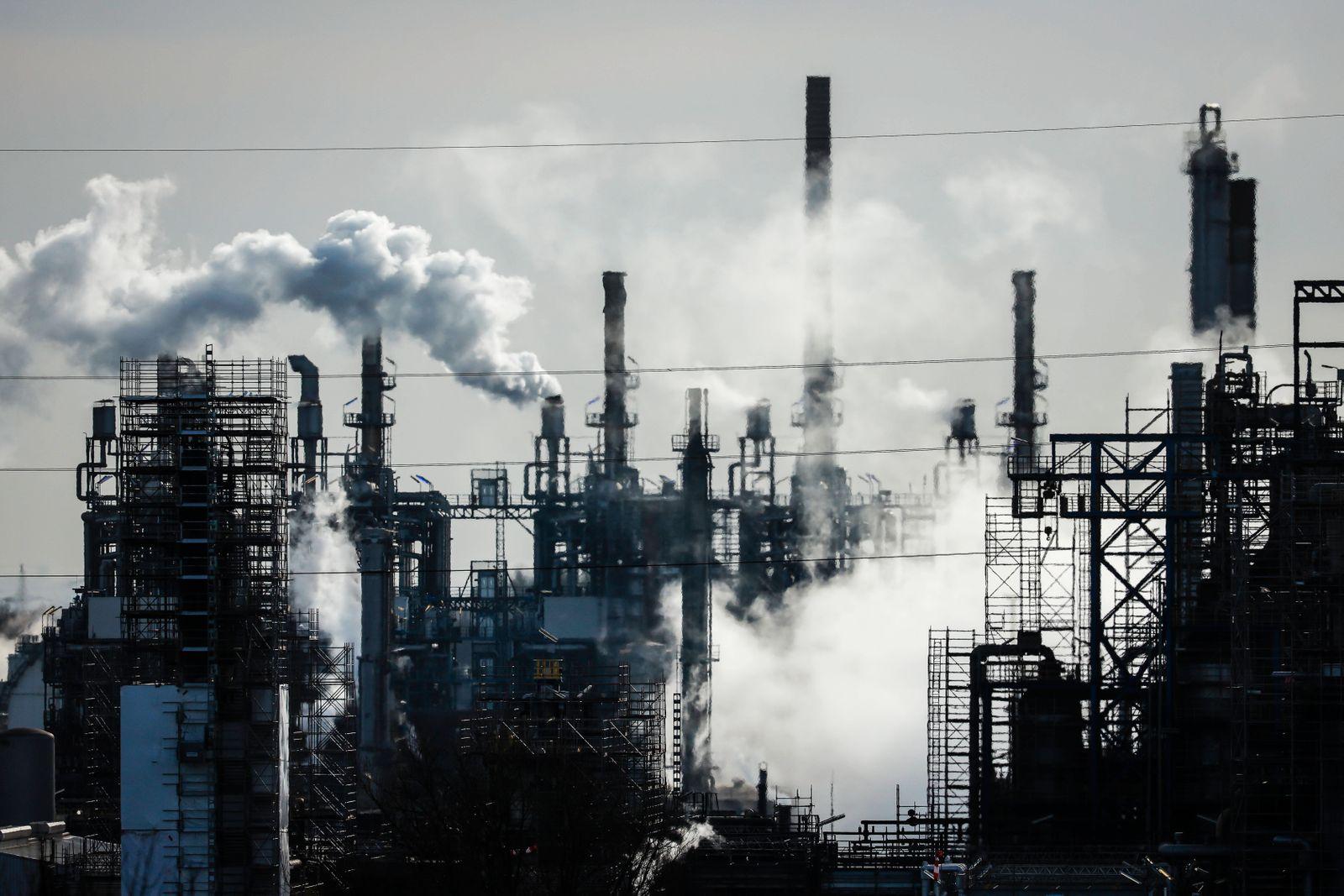 BP Ruhr Oel Erdoelraffinerie, Werk Scholven, Gelsenkirchen, Ruhrgebiet, Nordrhein-Westfalen, Deutschland