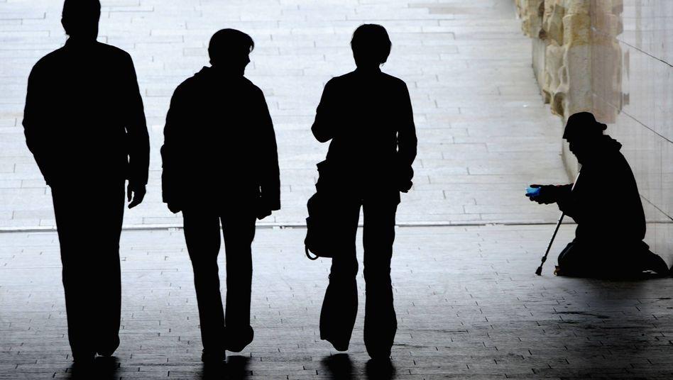 Bettler in Dresden: Sorge um den eigenen Job wächst