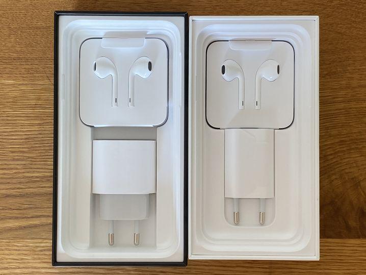 Die unterschiedlichen Ladegeräte von iPhone 11 Pro (links) und iPhone 11