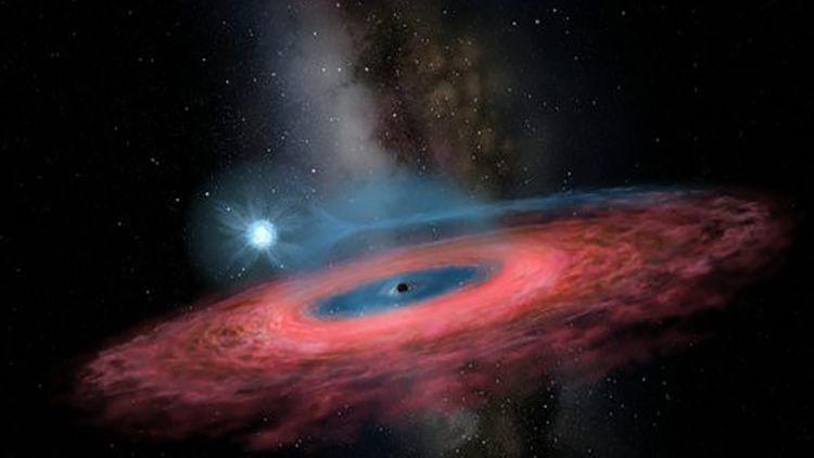 """Illustration des schwarzen Lochs """"LB-1"""": Zwei Mal mehr Masse als laut physikalischen Modellen möglich"""