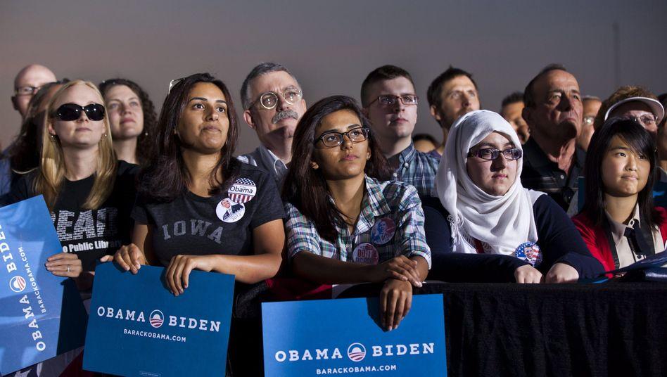 Obama-Unterstützer in den USA: Die Lage der Mittelklasse ist ein Thema im Wahlkampf