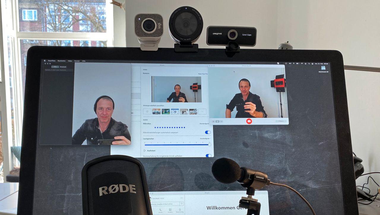 Videochats: Was externe Kameras und Mikros bringen - DER SPIEGEL