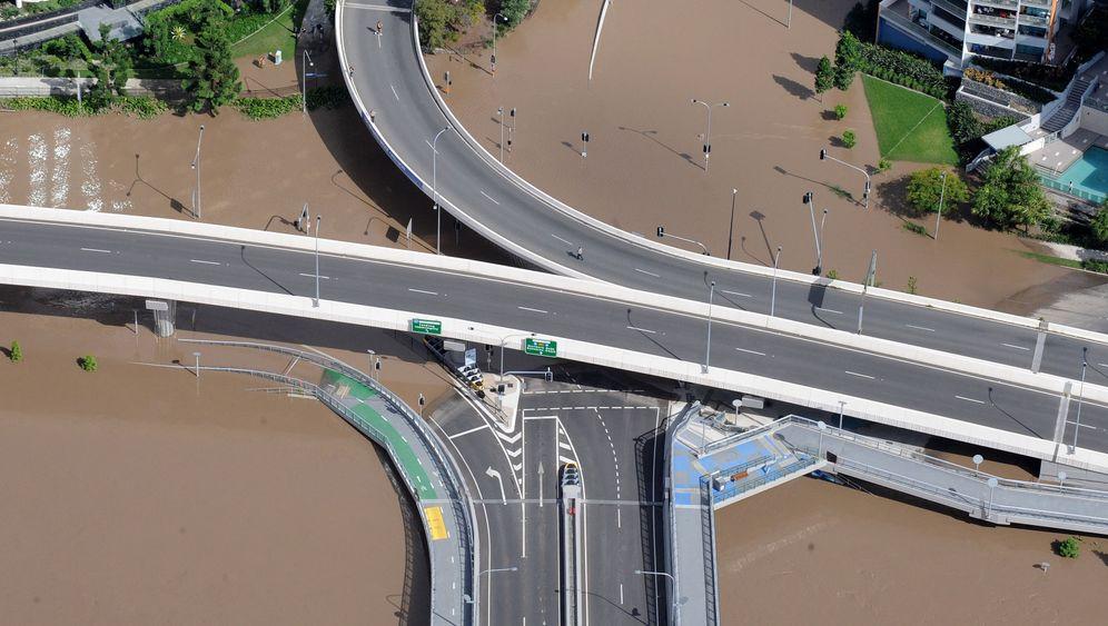 Hochwasser: Land unter in Brisbane
