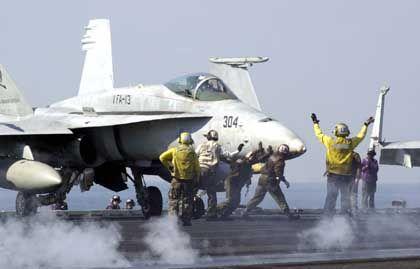 Kriegsvorbereitungen: US-Flugzeugträger Abraham Lincoln