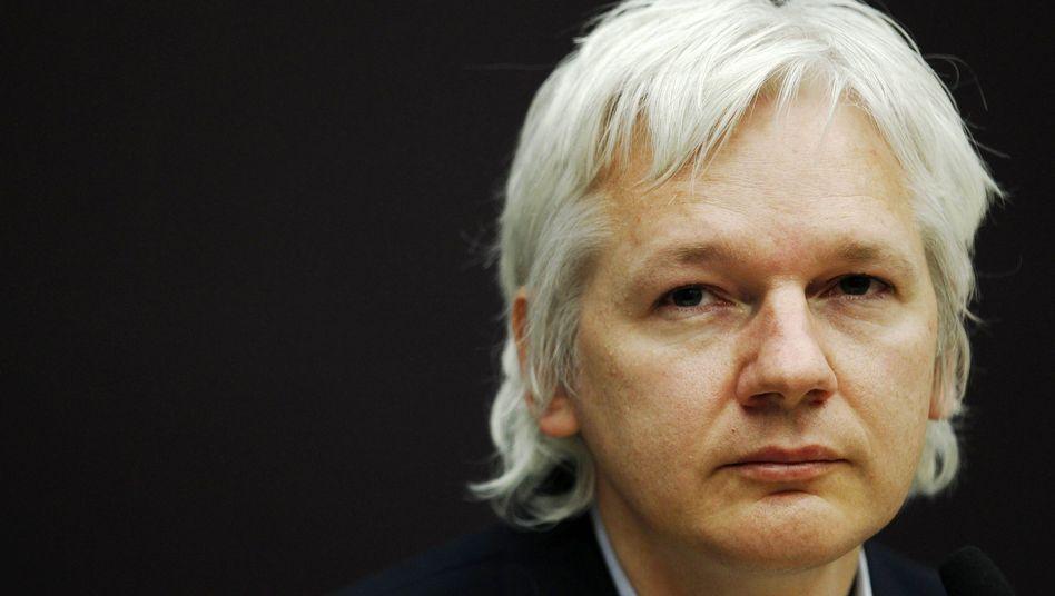Julian Assange während einer Konferenz: Vorerst keine Auslieferung nach Schweden