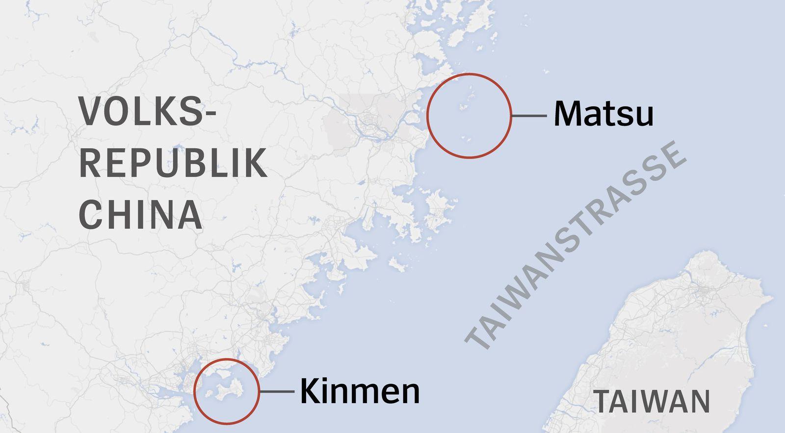 Karte Matsu Kinmen
