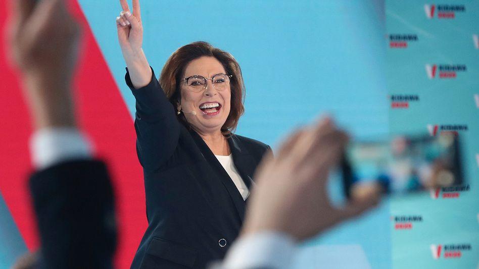 Die liberale Präsidentschaftskandidatin Malgorzata Kidawa-Blonska bei einer Rede im Februar 2020