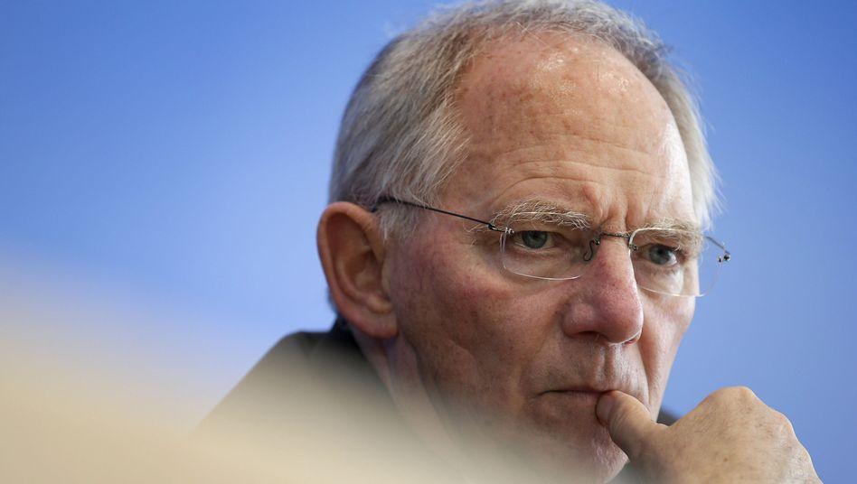 """Wolfgang Schäuble: """"Militärische Hilfe steht nicht zur Debatte"""""""