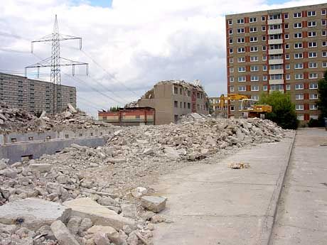 There are roughly 1 million empty apartments in the East. Many are being demolished.