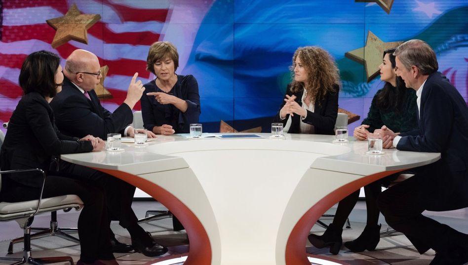 Moderatorin Illner (3.v.l.) mit ihren Gästen