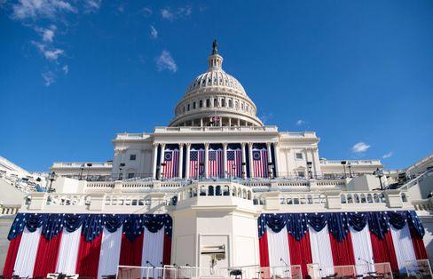 Hier wird er vereidigt: auf den Stufen des US-Kapitols