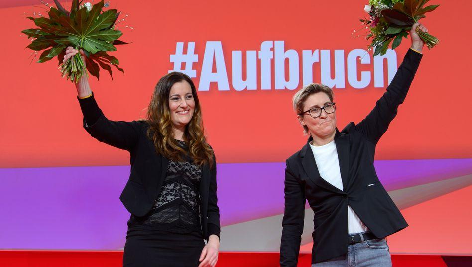Die neuen Linkenchefinnen: Janine Wissler und Susanne Hennig-Wellsow