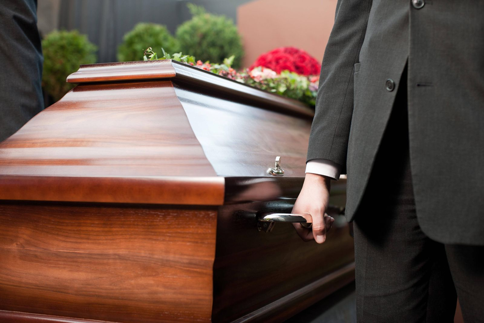 funeral with coffin model released Symbolfoto property released PUBLICATIONxINxGERxSUIxAUTxONLY Copy
