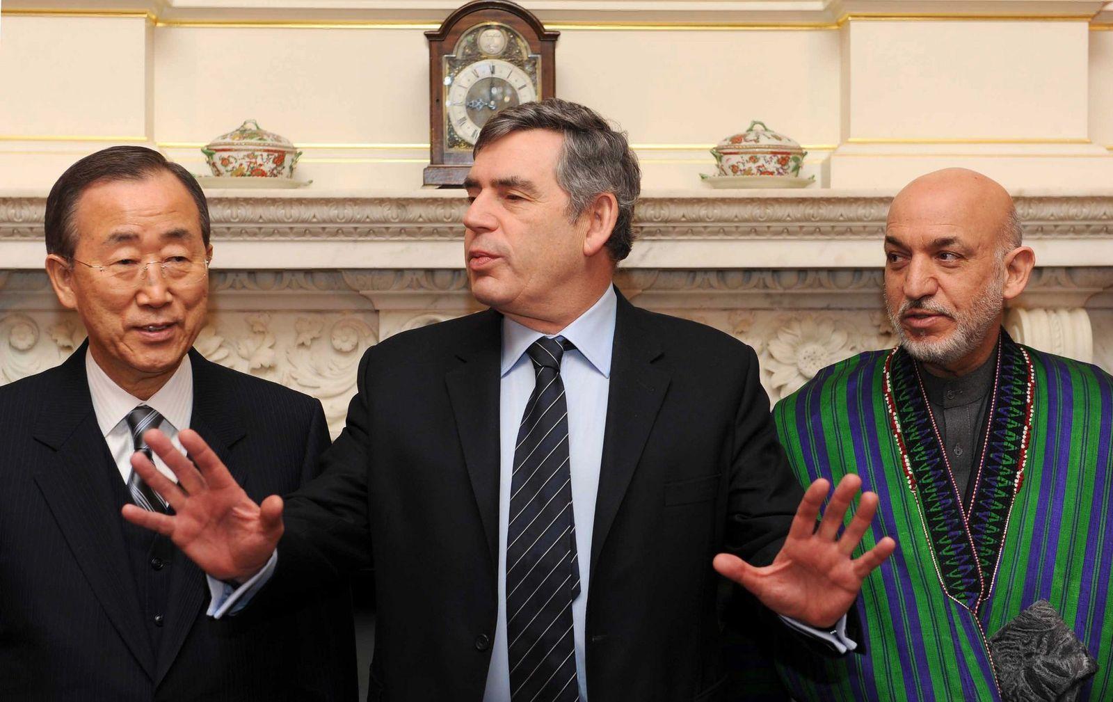 Afghanistan-Konferenz in London -Brown, Karsai Und Ban