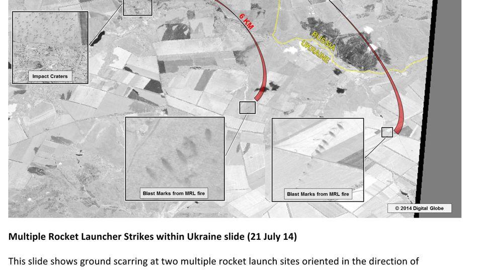 Kämpfe in derOstukraine: USA veröffentlichen angebliche Beweise für russische Angriffe
