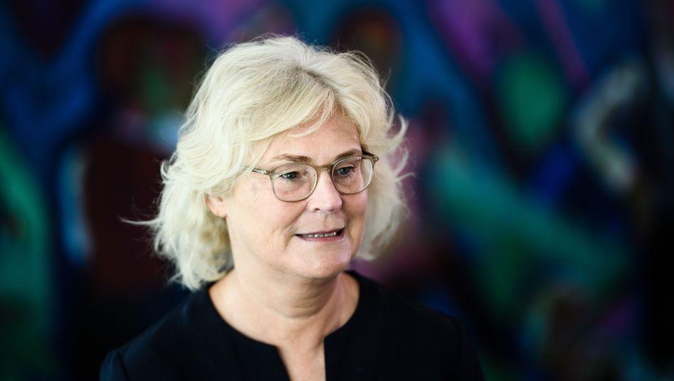 Seit Ende Juni ist Christine Lambrecht Nachfolgerin von Katarina Barley