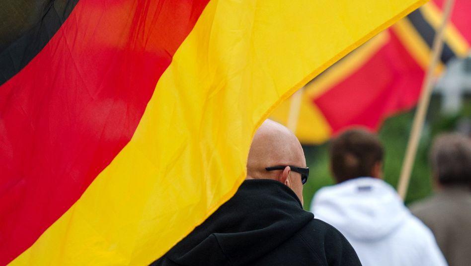 Demonstrant in Bautzen