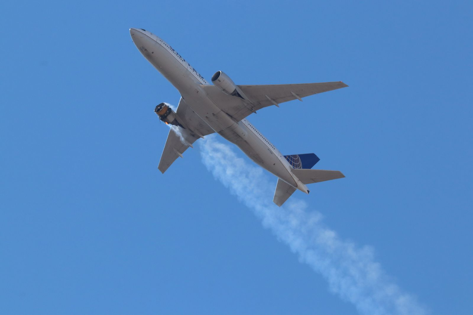 Debris falls from a plane over Broomfield, Denver, USA - 21 Feb 2021