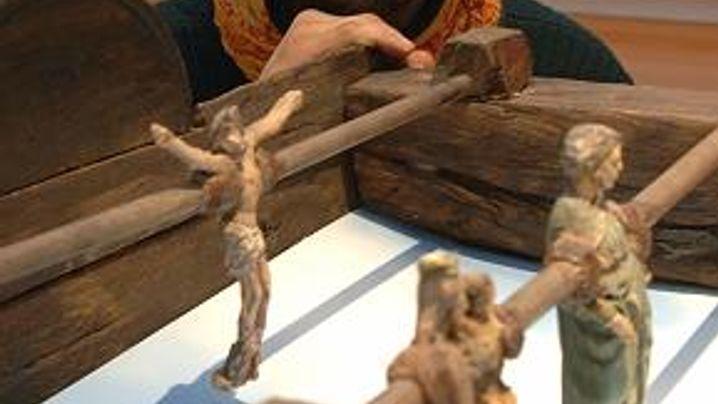 Rundlederwelten: Jesus im Tor
