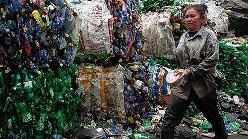 Plastikhalde in Bangkok
