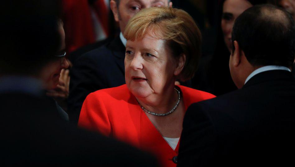 Angela Merkel sagte bei der Uno-Versammlung, dass sie Gespräche der Konfliktparteien begrüßen würde