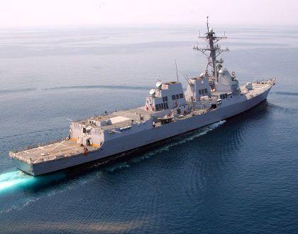 """""""USS Mustin"""": Der US-Zerstörer ist auf dem Weg nach Burma - er soll Hilfe für die Katastrophenopfer bringen"""