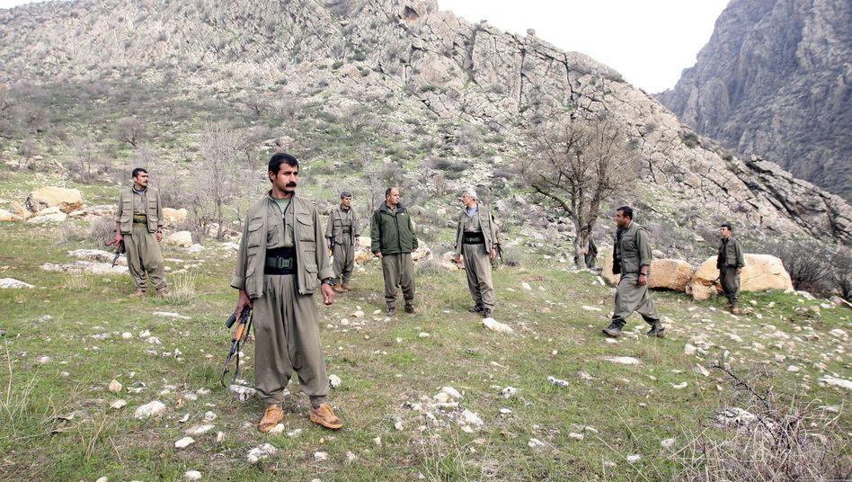 PKK-Kämpfer im nordirakischen Dohuk (Archivbild): Abzug aus Türkei begonnen