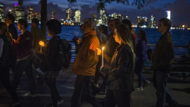 Gedenken an die Opfer von New York