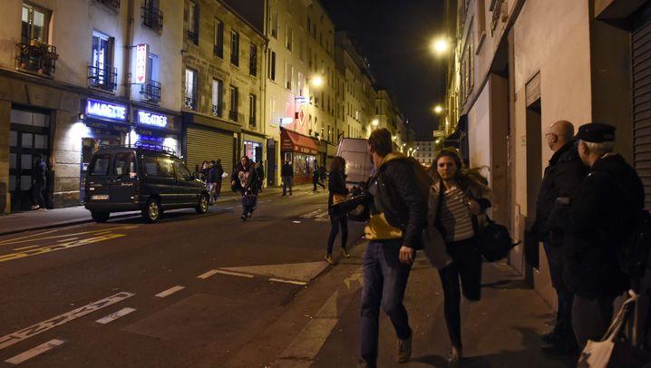 Fotostrecke: Panik in den Straßen von Paris